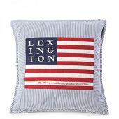 Poduszka Lexington Logo Art & Crafts Sham Blue&White