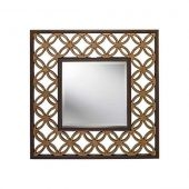 Lustro Geometric Antic Gold