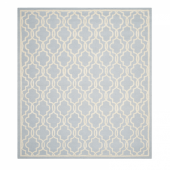 Dywan Geometric Light Blue&Ivory 182x274cm